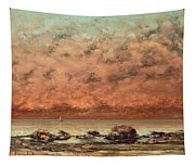 The Black Rocks At Trouville Tapestry