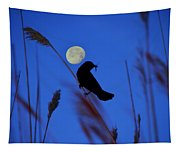 The Blackbird And The Moon Tapestry