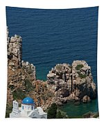 The Blue Domed Church At The Water S Tapestry