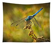 The Blue Dragonfly  Tapestry