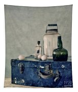 The Blue Suitcase Tapestry by Priska Wettstein