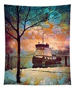 The Boat In Winter Tapestry