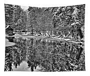 The Boathouse In Old Forge Tapestry