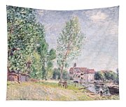 The Builder's Yard At Matrat Moret-sur-loing Tapestry