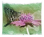 The Butterfly Visitor Tapestry