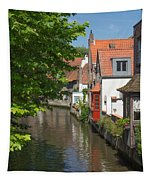 The Canal In The Downtown Of Bruges  Tapestry