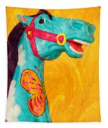 The Carousel Horse Tapestry