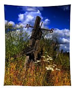 The Castle Fence Line Tapestry