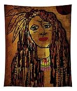 The Cheyenne Indian Warrior Brave Wolf Pop Art Tapestry