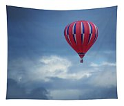 The Clouds Below - Hot Air Balloon Tapestry