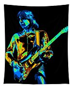 The Colorful Sound Of Mick Playing Guitar Tapestry