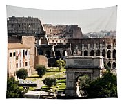 The Colosseum Through The Forum Tapestry