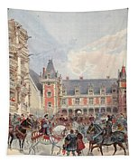 The Court In Chateaus Of The Loire Tapestry