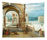 The Courtyard Of A Renaissance Palace Tapestry