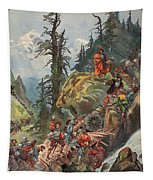 The Crossing Of The Alps, Illustration Tapestry