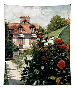 The Dahlias Garden At Petit Gennevilliers Tapestry