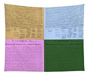 The Declaration Of Independence In Colors Tapestry