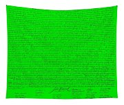 The Declaration Of Independence In Green Tapestry