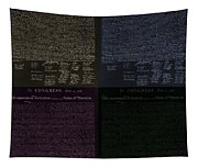 The Declaration Of Independence In Negative Colors Tapestry