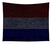 The Declaration Of Independence In Negative R W B 1 Tapestry