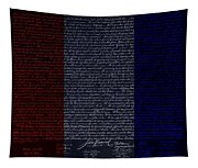 The Declaration Of Independence In Negative R W B Tapestry