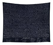The Declaration Of Independence In Negative  Tapestry
