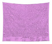 The Declaration Of Independence In Pink Tapestry