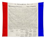 The Declaration Of Independence In Red White And Blue Tapestry