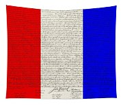 The Declaration Of Independence In Red White Blue Tapestry