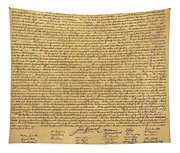The Declaration Of Independence In Sepia Tapestry