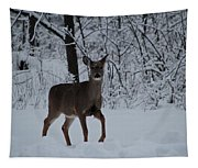 The Deer In The Snow Tapestry