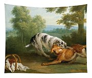 The Dog Carring His Dinner To His Master Tapestry