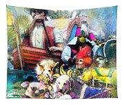 The Dogs Parade In New Orleans Tapestry