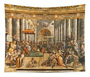 The Donation Of Rome. Tapestry