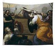 The Duel Of Isabella De Carazzi And Diambra De Pottinella Tapestry