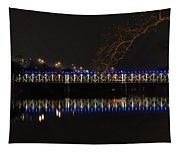The East Falls Bridge At Night - Philadelphia Tapestry
