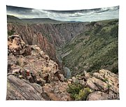 The Edge Of Back Canyon Tapestry