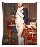 The Emperor Napoleon In His Study At The Tuileries By Jacques Louis David Tapestry