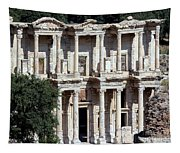 The Ephesus Library In Turkey Tapestry
