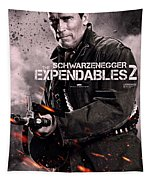 The Expendables 2 Schwarzenegger Tapestry