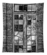 The Factory Window Bw Tapestry
