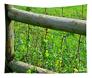 The Fence At The Meadow Tapestry