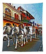 The Final Ride Painted Tapestry