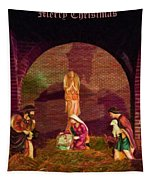 The First Christmas - Greeting Card Tapestry