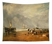 The Fish Market At Hastings Beach Tapestry