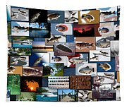 The Fishing Hole Collage Rectangle Tapestry