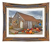 The Fishing Village Scene Tapestry