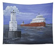 The Fitz Departs Escanaba Tapestry