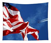 The Flag And The Blue Angels Tapestry