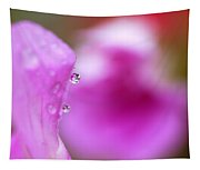 The Flower Enclosed In A Small Drop Of Water Tapestry